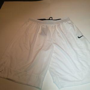 Nike Men's DRI-Fit Basketball Shorts, White